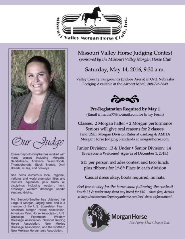 Missouri Valley Horse Judging Contest